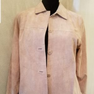 Lord and Taylor suede shirt jacket
